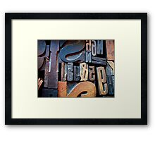 "Typesetting - The Number ""2"" Framed Print"