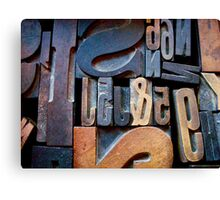 "Typesetting - The Number ""2"" Canvas Print"