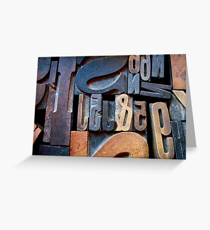 "Typesetting - The Number ""2"" Greeting Card"