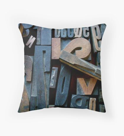 "Typesetting - Letter ""!"" Throw Pillow"