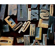 """Typesetting - The Letter """"E"""" Photographic Print"""