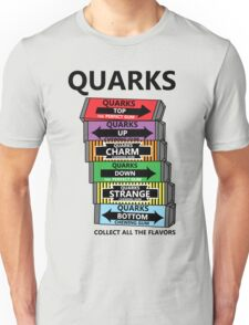 Quarks, can you collect all the flavors? Unisex T-Shirt