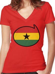 Ghana Soccer / Football Fan Shirt / Sticker Women's Fitted V-Neck T-Shirt