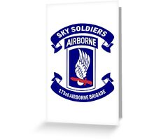 Insignia of the 173rd Special Forces Airborne Brigade! Greeting Card