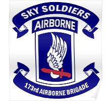 Insignia of the 173rd Special Forces Airborne Brigade! Poster