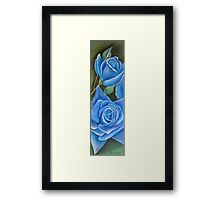 'A Touch  Blue' Framed Print