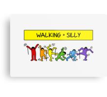 Pop Shop Silly Walks Metal Print