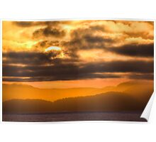 Sunset over Vancouver Island, Canada  Poster