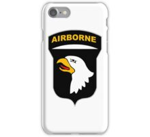 Logo of the SCREAMING EAGLES Airborne Division iPhone Case/Skin
