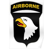 Logo of the SCREAMING EAGLES Airborne Division Poster
