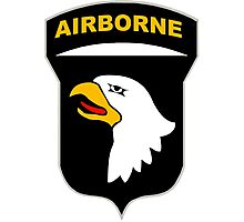 Logo of the SCREAMING EAGLES Airborne Division Photographic Print