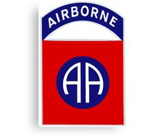 Logo of the Eighty-Second Airborne! Canvas Print