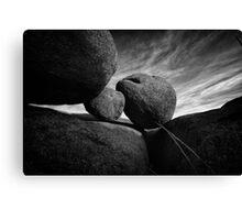 Between A Rock Canvas Print