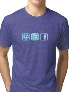 WTF social media icons T Shirt Tri-blend T-Shirt