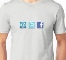 WTF social media icons T Shirt Unisex T-Shirt
