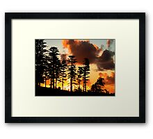 View from the bathtub, sunset in NI Framed Print