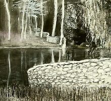charcoal landscape andy drywall by donna malone