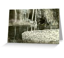 charcoal landscape andy drywall Greeting Card
