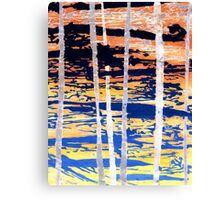 Wax Stripe Canvas Print