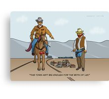 Small Town Cowboys Canvas Print