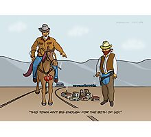 Small Town Cowboys Photographic Print