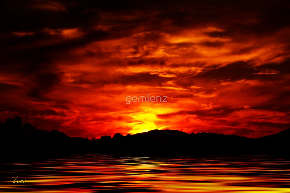 Firey Sunset by George Lenz