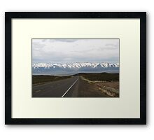 Loneliest Highway in America,outside Fallon Nevada,USA Framed Print