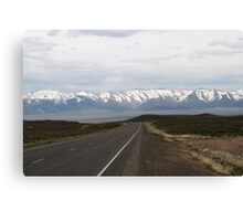 Loneliest Highway in America,outside Fallon Nevada,USA Canvas Print