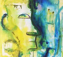 Two Minds Abstract Artwork by Belinda Lindhardt by Belinda Lindhardt
