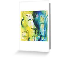 Two Minds Abstract Artwork by Belinda Lindhardt Greeting Card