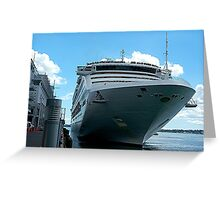 First line ashore...........! Greeting Card