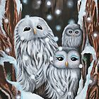 Winter's Home - greeting card by Emi Nakamura