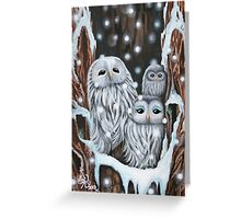 Winter's Home - greeting card Greeting Card