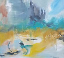 Avoca Beach - Abstract artwok by Belinda by Belinda Lindhardt