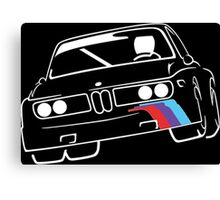 BMW M3 CSL - Black & White Canvas Print