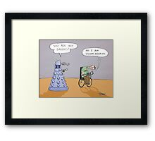 stephen and the dalek Framed Print