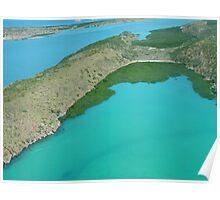 Flight from One Arm Point (Bardi) to Talbot Bay, Kimberley, Western Australia Poster