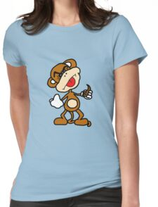 poop throwing monkey Womens Fitted T-Shirt