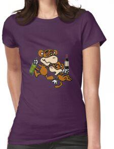 drunken monkeys Womens Fitted T-Shirt