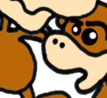 drunken monkeys Sticker