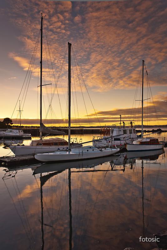 A Calm Marina Sunrise by fotosic