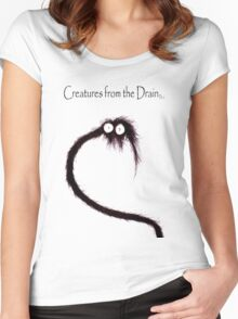 creatures from the drain 42 Women's Fitted Scoop T-Shirt