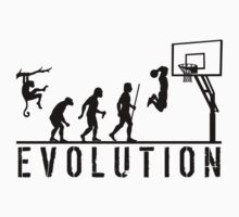 Evolution of Man to Basketball Slam Dunk by movieshirtguy