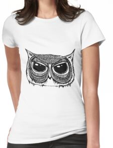Giant eyes Owl 1  Womens Fitted T-Shirt
