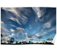 Cirrus Clouds over Warwick Poster