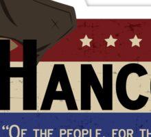 Hancock For Mayor Sticker