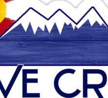 Dove Creek Colorado wood mountains Sticker