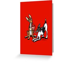 Rat Terrier Valentines Day Greeting Greeting Card