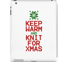 Keep Warm and Knit for Xmas iPad Case/Skin