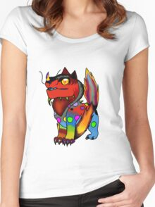 Cute Monster Women's Fitted Scoop T-Shirt